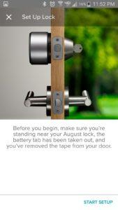 August App Set Up Lock Screen