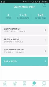 Petnet Smartfeeder Daily Meal Plan cats dogs automatic