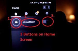 Hue App Home Screen Buttons