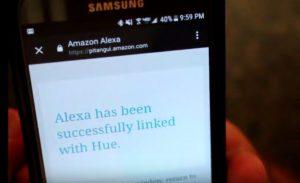 Alexa linked with Hue