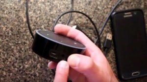 Echo Dot Audio et ports d'alimentation