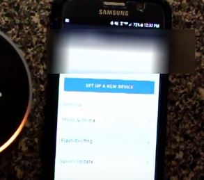 Configurer le nouvel appareil Alexa App